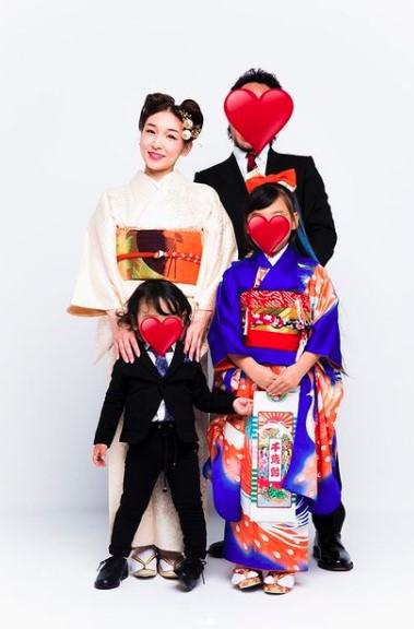 加護亜依と旦那と息子と娘