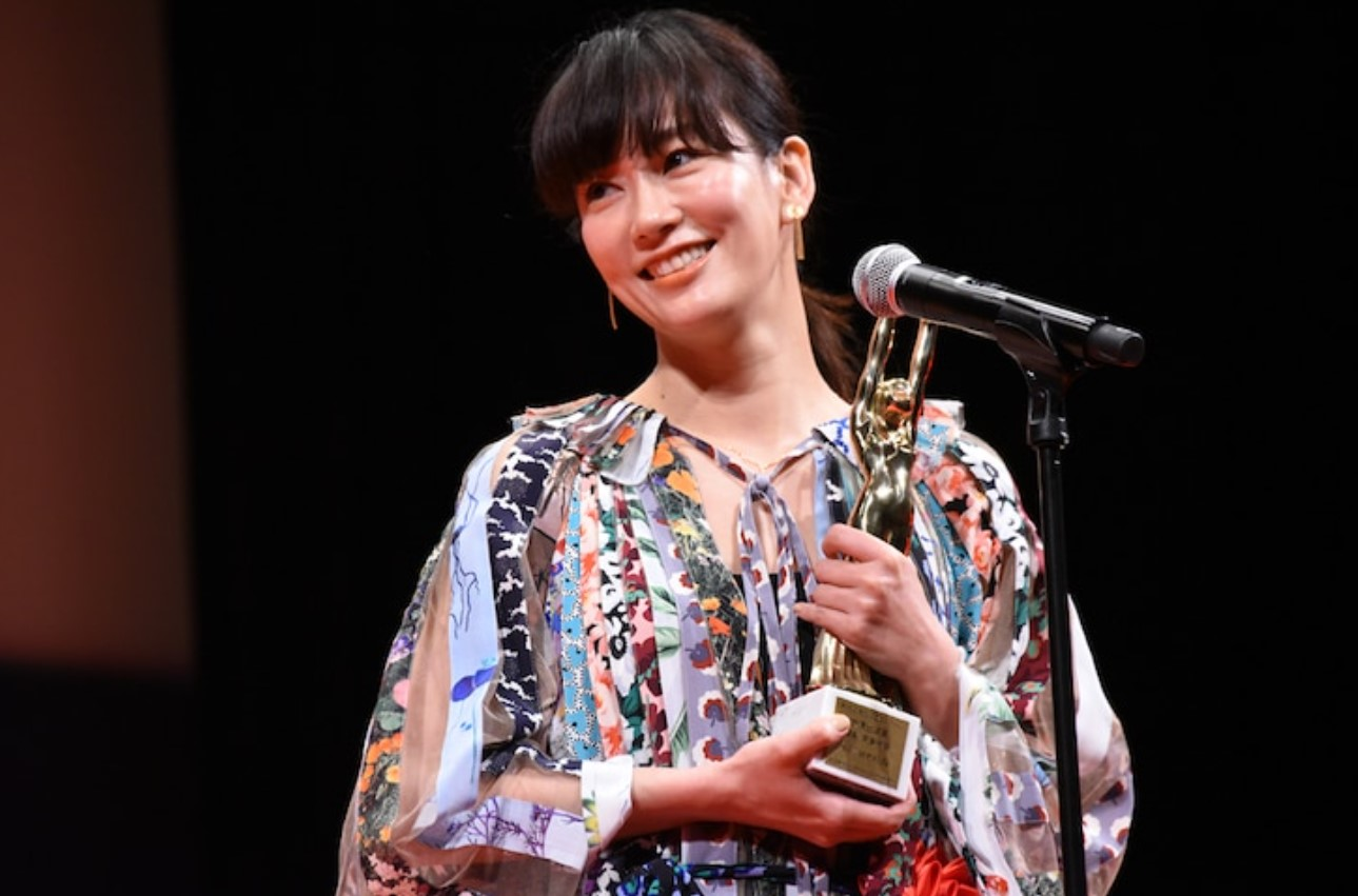 水川あさみが毎日映画コンクールの授賞式