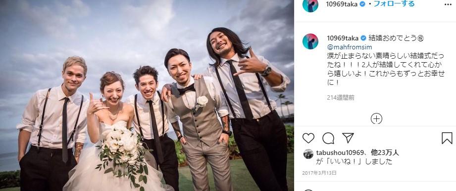 ワンオクTAKAがSim MAHの結婚式に参加したとき