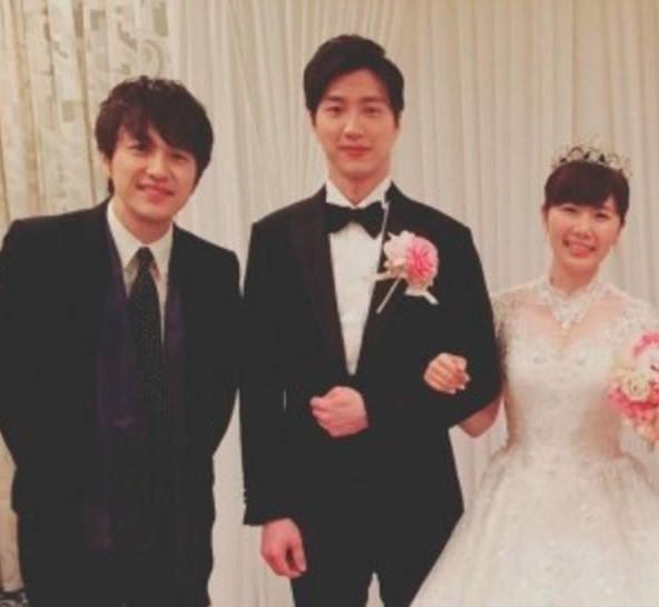 北川悠仁が福原愛の結婚式に出席したとき