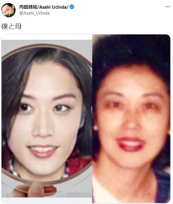 内田朝陽の母親と女装した内田朝陽