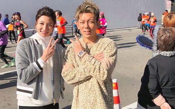 2019年12月の大阪マラソンで青木愛と皇治