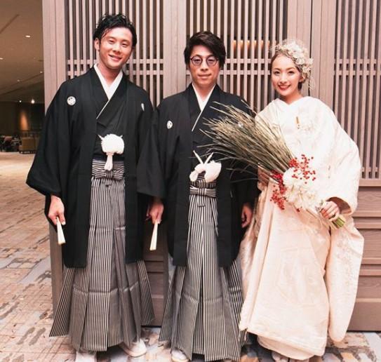 金本かすみの結婚式にロンブー田村淳が出席した