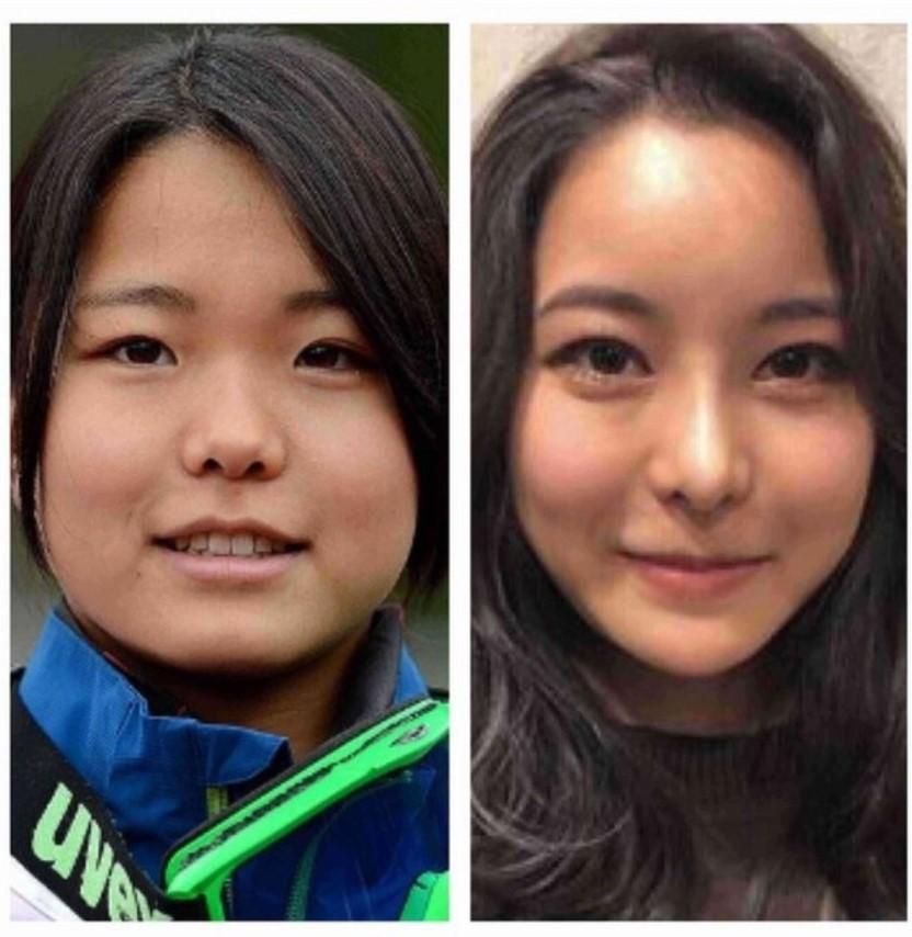 高梨沙羅選手の比較画像
